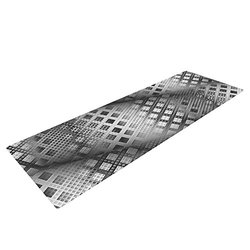 "Kess InHouse Michael Sussna ""Array Decay"" Checkered Yoga Mat - Gray"