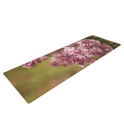 "Kess InHouse Angie Turner ""Lilacs"" Yoga Exercise Mat, Pink Flower, 72 x 24-Inch"