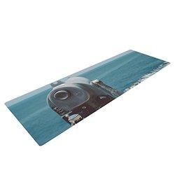 "Kess InHouse Nastasia Cook ""Ocean View"" Yoga Mat - Blue Coastal - 72 x 24"""