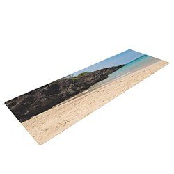 "Kess InHouse Nastasia Cook ""Hapuna Beach"" Yoga Mat - Brown/Blue - 72 x 24"""
