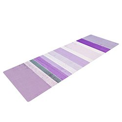 "Kess InHouse CarolLynn Tice ""Grape"" Yoga Exercise Mat, Purple/White, 72 x 24-Inch"