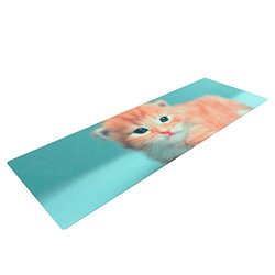 "Kess InHouse Monika Strigel ""Dreamcat"" Yoga Mat - Orange/Blue"