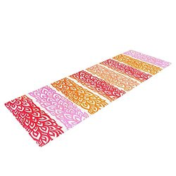 """Kess InHouse Pom Graphic Design """"Leafs from Paradise"""" Yoga Exercise Mat, Paradise, 72 x 24-Inch"""