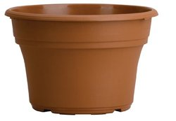 "Akro Mils 14"" Dual Drain Bottom Panterra Pot - Clay Color"
