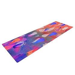 """Kess InHouse Nikki Strange """"Bindi Dreaming"""" Yoga Exercise Mat - Blue/Pink"""