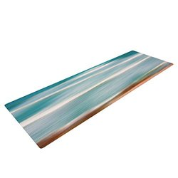 "Kess InHouse Ann Barnes ""Sun and Sea"" Yoga Exercise Mat, Aqua Blue, 72 x 24-Inch"