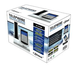 Zenex Single Handset Single Line Silver Telephone ZN-TP5588