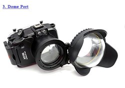 CameraPlus Sony A5100 130ft Waterproof Diving Housing Case with Connector
