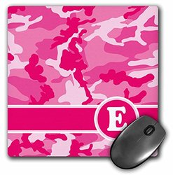 3Drose Cute Pink Camo Camouflage Letter E - Mouse Pad