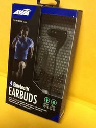 Avia Form Fitting Bluetooth Earbuds with Inline Mic - Black