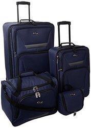 U.S. Traveler Westport 4-Piece Luggage Set: Navy