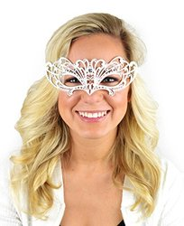 "Mask-It 8"" Metal Half Mask - White"