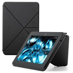 Amazon Kindle Fire HDX Standing Polyurethane Origami Case - Mineral Black
