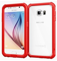 roocase Glacier Tough Full Body Case For Samsung Galaxy S6, Carmine Red