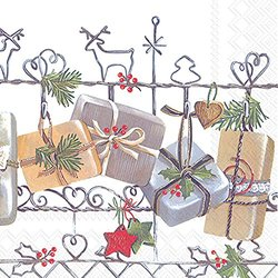 Ideal Home Range 20 Count Cocktail Napkins - Christmas Trellis