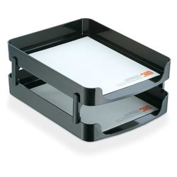 """14"""" Letter Tray Front Load, Black ,Officemate, 22236"""