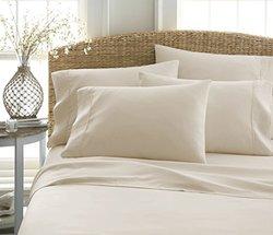 ienjoy Home 6-Piece 100% Ultra-Soft Bed Sheet Set - Cream - Size: Queen