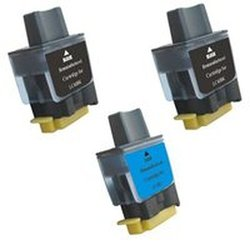 Amsahr LC41-SET3 Brother LC41BK, 1840C, 1940CN Compatible Replacement Ink Cartridges