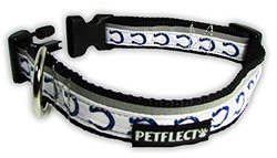 Petflect Indianapolis Colts Reflective Collar, X-Large