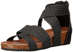 Muk Luks Women's Elle Wedge Sandal - Black - Size: 10M