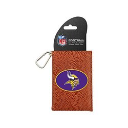 NFL Minnesota Vikings Classic Football ID Holder, One Size, Brown