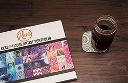 "4x4"" Gill Eggleston ""Eastern Promise"" Coasters - Set of 4 - Green/Orange"