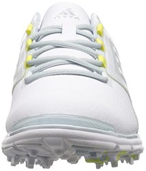 adidas Women's W Adistar Tour Golf Spikeless, FTWR White/Soft Blue-TMAG/Sunny Lime-TMAG, 8 M US