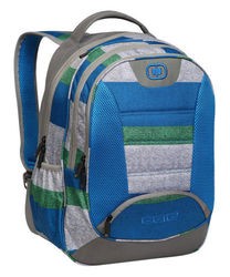 "OGIO Stellar Unisex 17"" Pro School Work Laptop Backpack - Blue/Green/Gray"
