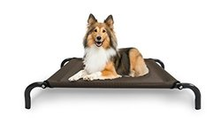 Steel Frame Cot-style Raised Pet Bed: Espresso/small
