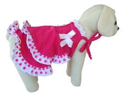 UP Collection Fashionable Summer Dress for Dogs, Fuchsia, Small