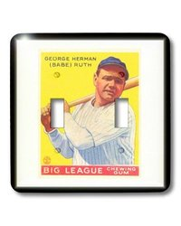 3dRose LLC lsp_100562_2 1933 Baseball Card of Babe Ruth Double Toggle Switch