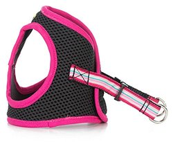 Luca for Dogs Luca For Dogs Step-In Style Harness for Dogs, Pink-Pink Stripe, X-Large, Pink-Pink Stripe