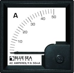 Blue Sea Systems 0 to 50A AC DIN Voltmeter with Coil