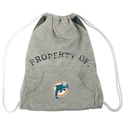 NFL Miami Dolphins Hoodie Cinch Bag - Gray