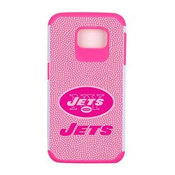 NFL New York Jets Football Pebble Grain Feel Samsung Galaxy S6 Case, Pink