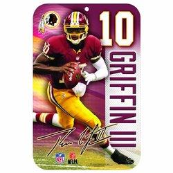 NFL Washington Redskins Robert Griffin III 11x17-Inch Sign
