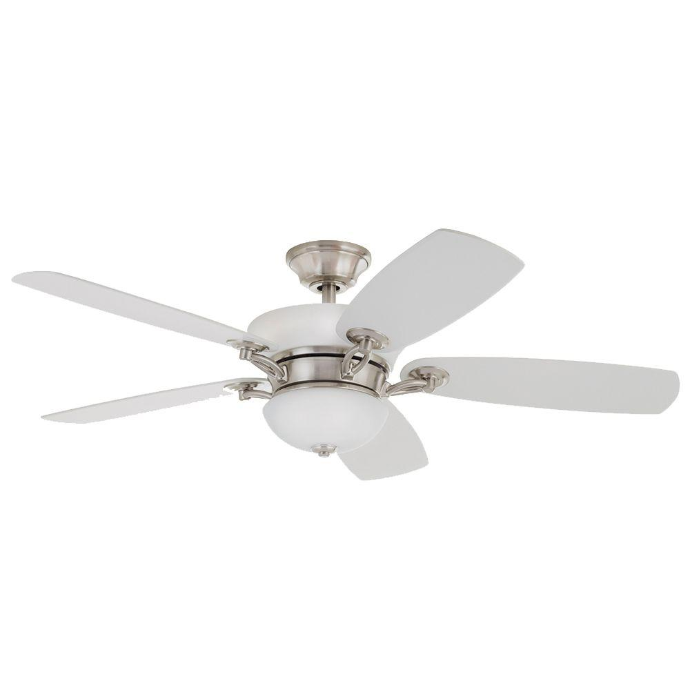 Hdc Chardonnay 52 Indoor Ceiling Fan W Light Brushed Nickel 51528