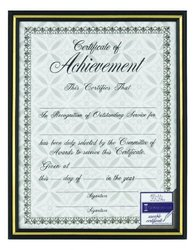 Burnes of Boston 2602N2 Document Frame, 8-1/2-Inch by 11-Inch, Black/Gold