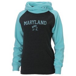NCAA Maryland Terrapins Women's Hoodie - Charcoal/Surf - Size: L