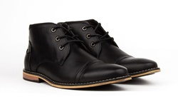 Royal Men's Cap Toe Chukka Boots - Black - Size: 11