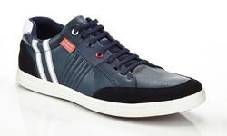 Franco Vanucci Men's Jess-1 Sneaker - Navy - Size: 12