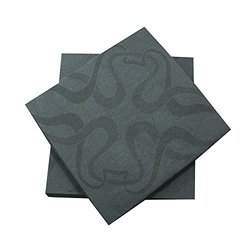 Luxenap Air Laid Disposable Napkins Vintage Black 16x16 inches 25 count