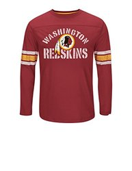 NFL Washington Redskins Men's Victory Gear VII Short Sleeve Crew Neck Tee, Medium, Dark Garnet/Yellow Gold