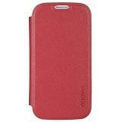 Odoyo PH613PR Lite Folio Protective Series Case for Samsung Galaxy S4 - Retail Packaging - Poppy Red