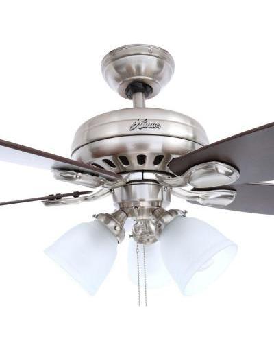 Hunter Highbury 52005 52 U0026quot  Indoor Brushed Nickel Ceiling