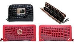 Dasein Women's Wallet with Zip Closure - Coffee Brown - Size: One Size