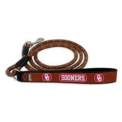 NCAA Oklahoma Sooners Football Leather Rope Leash, Large, Brown