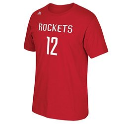 "Adidas NBA ""Rockets 12"" Men's Short Sleeve T-Shirt - Red - Size: Large"
