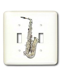 3dRose LLC lsp_4112_2 Saxophone, Double Toggle Switch