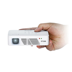 Aaxa ST200 720P HD Short-Throw Pico Projector, 150 Lumens, White
